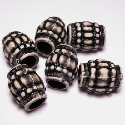 ethnic beads ton zwart 14x18 mm