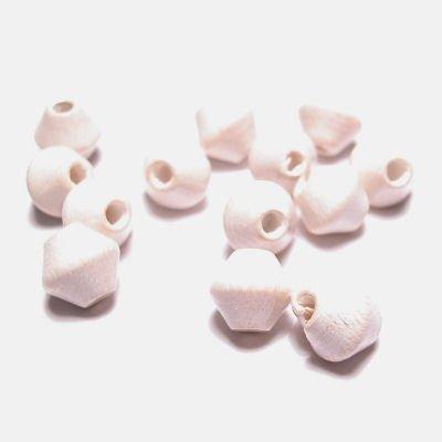 kraal konisch gebr. wit 6 mm