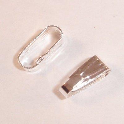 metalen haakje 8x3 mm zilver