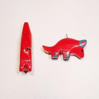 bedel muis rood ca. 30x12 mm