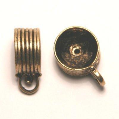 tussenzetsel voor kralen 16mm  goud