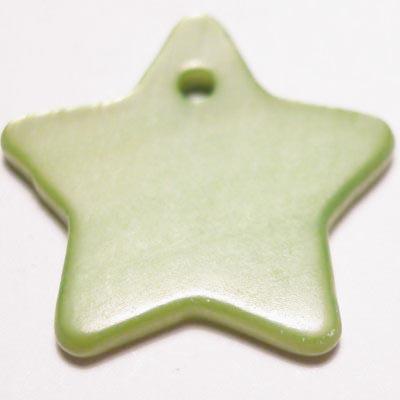 parelmoer hanger ster groen 18 mm