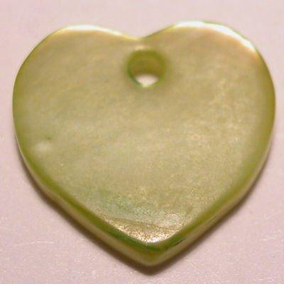 parelmoer hanger hart groen 12 mm