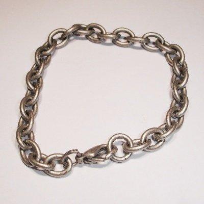 armband met sluiting antiek zilver 18 cm