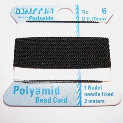 kralenrijgdraad nylon zwart 0,7 mm