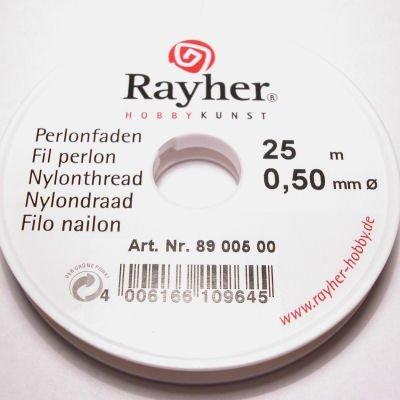 nylondraad transparant 0,50 mm