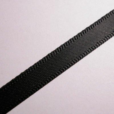 satijnlint 7 mm zwart