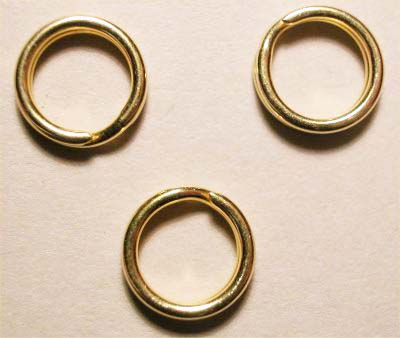 splijtring goud 7 mm