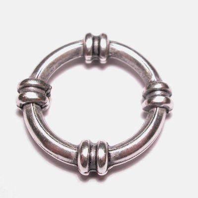ring metaal sier oud zilver 21 mm