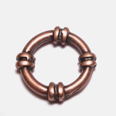 ring metaal sier brons 19 mm