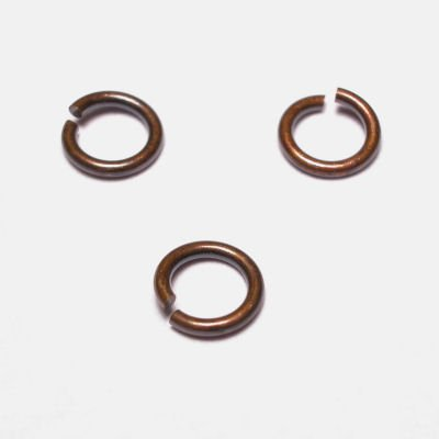 ring rond brons 6 mm, 1 mm dik