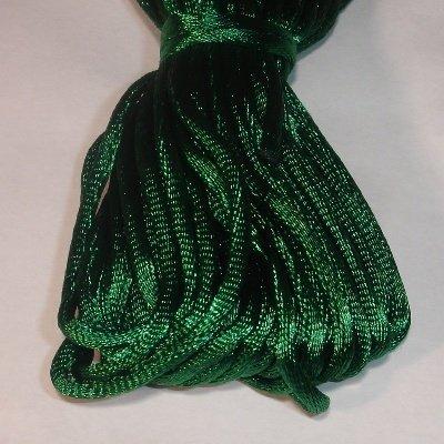 Satijnkoord, 2 mm, d.groen