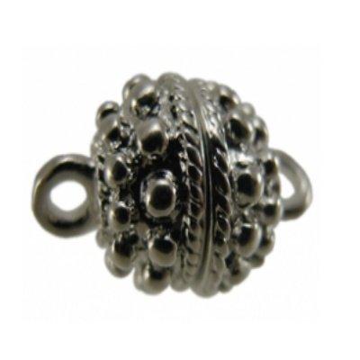 magneetsluiting rond zilver 12 mm