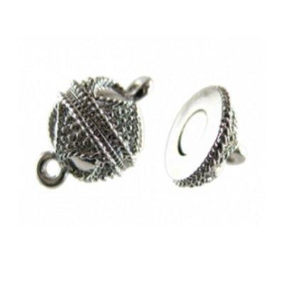 magneetsluiting bewerkt zilver 12 mm