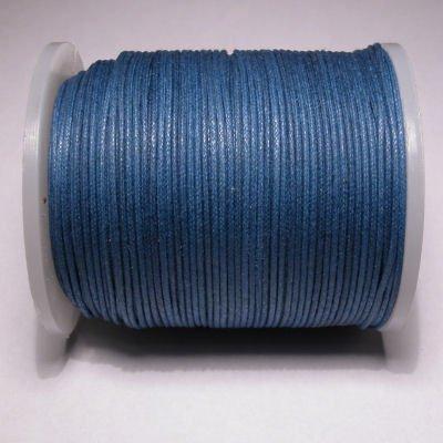 waxkoord 1mm navy blauw