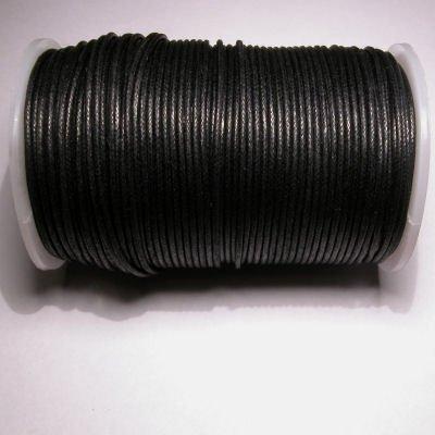waxkoord 2mm zwart