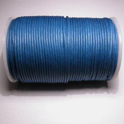 waxkoord 2mm navy blauw