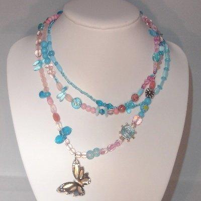 Kettingturquoise/rosemetrvsvlinder