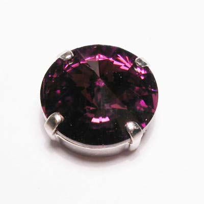 steen in kastje 14 mm  amethyst