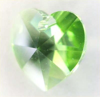 swarovski hanger hart groen 10 mm