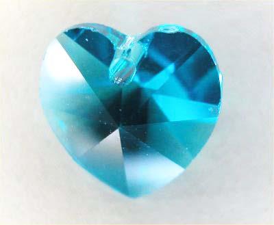 swarovski hanger hart smaragdgroen 10 mm