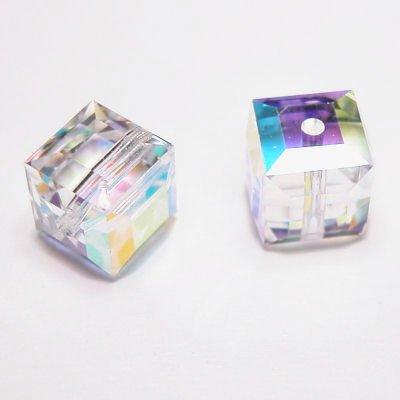 swarovski kubus 6 mm crystal AB
