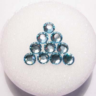 swarovski plaksteen rond aquamarine 4 mm