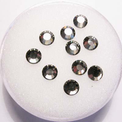 swarovski plaksteen rond black diamond 4 mm