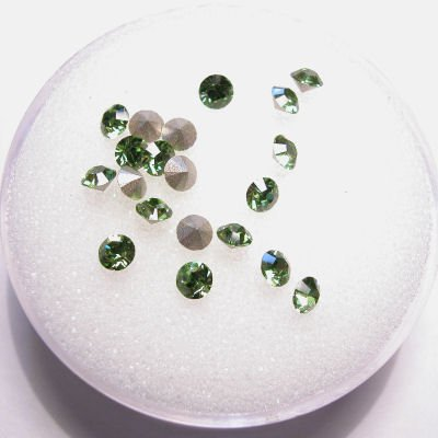 swarovski similisteen rond peridot 3 mm