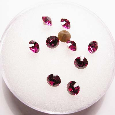 swarovski similisteen rond fuchsia 4 mm