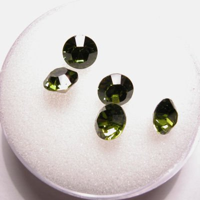 swarovski similisteen rond olivine 6 mm