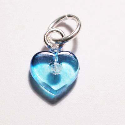 acryl hartje blauw 7x8 mm