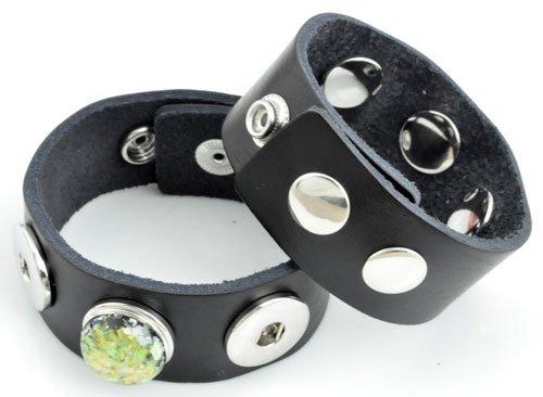 Easy button armband zwart
