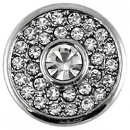 Easy button antiek zilver crystal