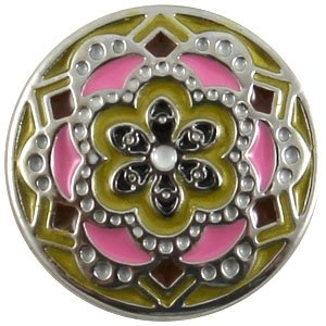 Easy button bloem roze geel