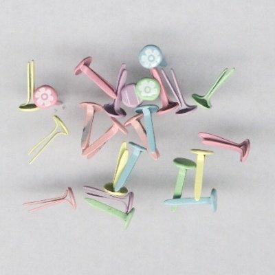 brads rond glitter 4 mm  pastel kleuren