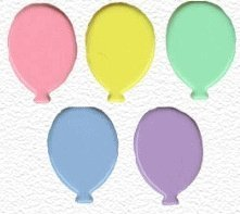 brads balonnen pastel kleuren