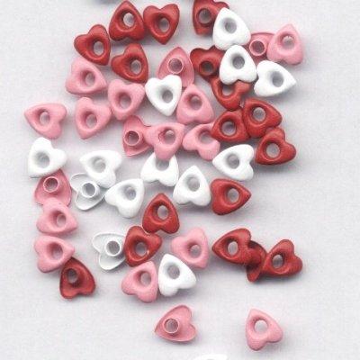 eyelets hart 6 mm rood tinten