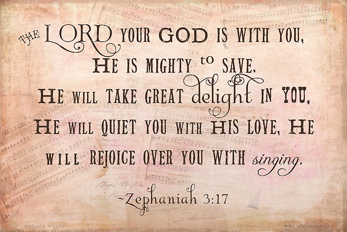 The Lord delights in you