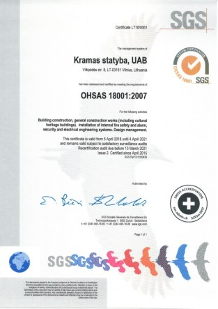 Kramas statyba certificate 18001_2018_001