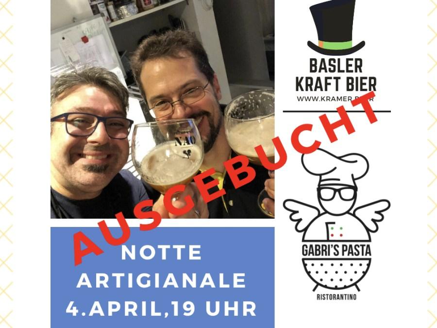 Wir lancieren unser Basler Kraft Bier bei Gabris Pasta