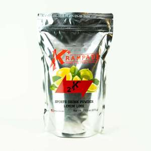 Krampade Original 2K lemon lime flavor, 19 serving resealable pouch, 2000 mg of potassium per serving, designed for athletes as an alternative sports drink to traditional sports drinks