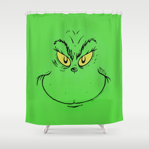 Christmas Shower Curtain.How The Grinch Stole Christmas Shower Curtain