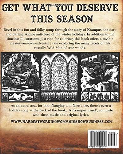 Krampus Coloring Book - Back Cover
