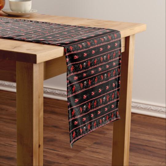Krampus Broken Ornament Table Runner
