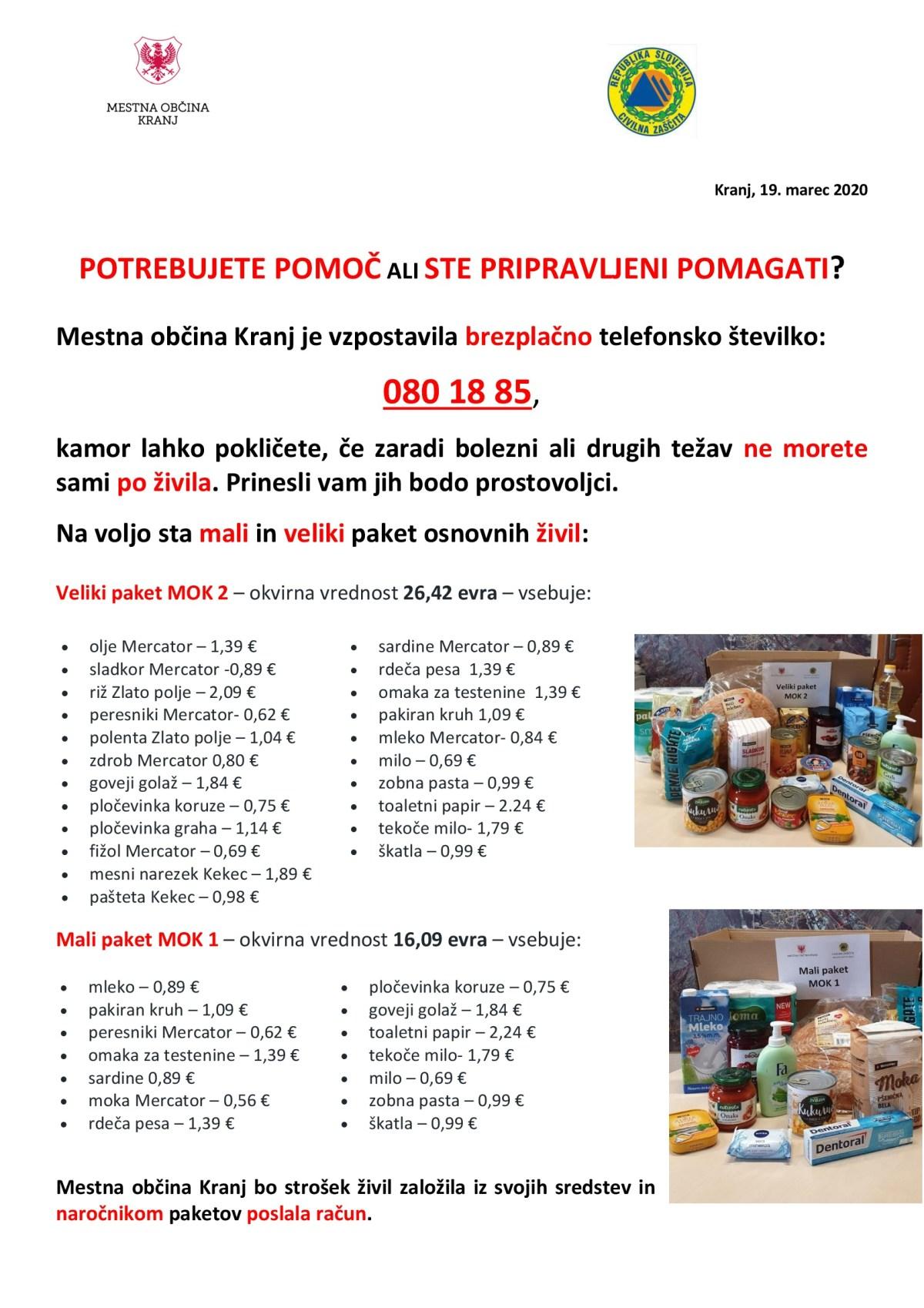 Pomoč pri nabavi živil