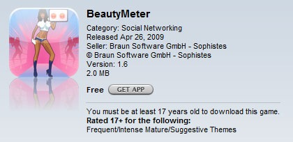 BeautyMeters App Store description