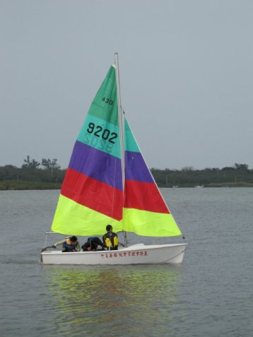 Na člunech Formosa jsme se učili plachtit