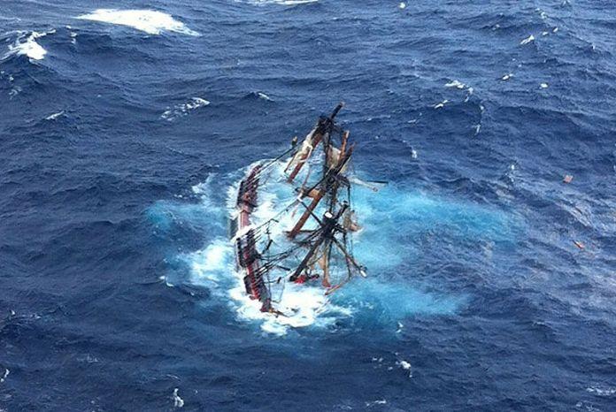 Potopen HMS Bounty Krsa Jachtingu