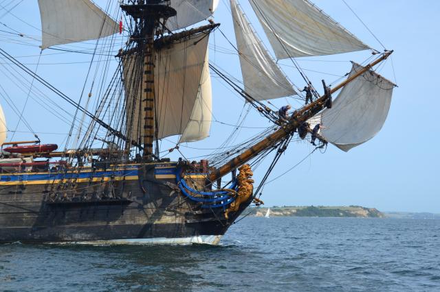 Jedna z historických lodí z Tall Ship Race.